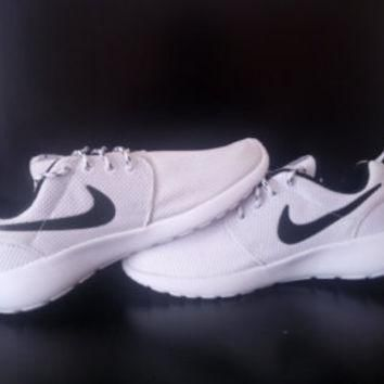 custom nike roshe run sneakers athletic running womens shoes as is or blinged with swa
