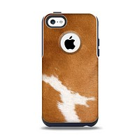 The Real Brown Cow Coat Texture Apple iPhone 5c Otterbox Commuter Case Skin Set