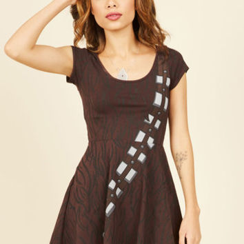 For Sidekicks and Giggles Skater Dress in Chewie | Mod Retro Vintage Dresses | ModCloth.com