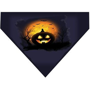 Halloween Over the Collar Dog Bandana - Scary Pumpkin