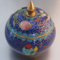 Chinese Cloissone Small Unusual Trinket Box