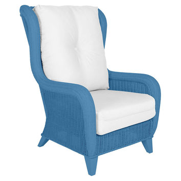 Kelly Wing Chair, Blue, Wingbacks
