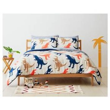 Jurassic Jams Comforter Set - Full/Queen - 3 pc - Tan - Pillowfort™ : Target