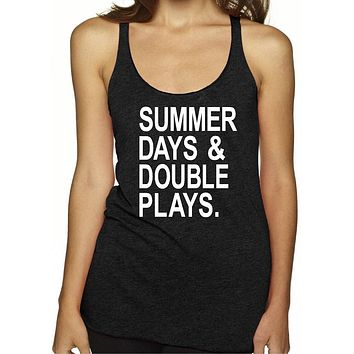 Summer Days And Double Plays Baseball Mom Shirt
