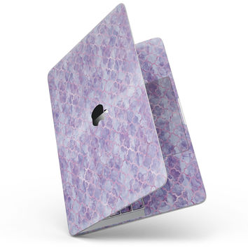 Purple Watercolor Quatrefoil - MacBook Pro without Touch Bar Skin Kit
