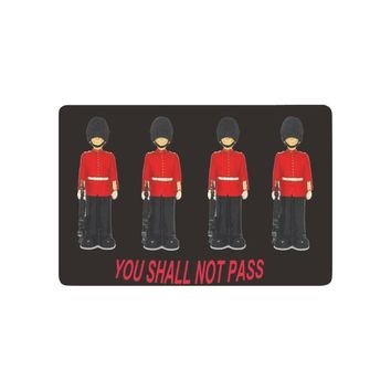 Autumn Fall welcome door mat doormat You Shall Not Pass Anti-slip  Home Decor, London Queen's Guard in Traditional Uniform Indoor Outdoor Entrance  AT_76_7