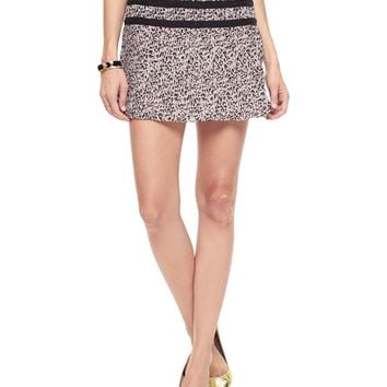 Vanilla Empress Empress Leopard Pleated Mini Skirt by Juicy Couture,