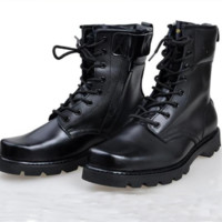 Fashion Mens Black Leather Ankle Boots Desert Army Boots