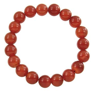 Natural Stone Stretch Bracelet in Red Agate