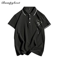 Summer men Rose flower Polo Shirts 95% cotton Clothing Man's Wear Short Sleeve Clothes