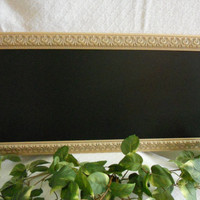 Large, gold Framed Chalkboard. Big Framed chalk board, kitchen menu board, restaurant menu board,  wedding chalkboard
