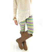 Highgate Hill Neon Pastel Tribal Print Leggings