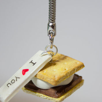 "Polymer Clay ""I Love You S'More"" Keychain"