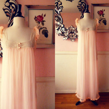 Romantic Chiffon Nightgown- Medium