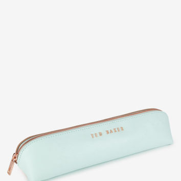 Leather pencil case - Light Green   Gifts for Her   Ted Baker