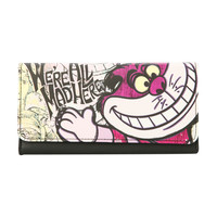 Disney Alice In Wonderland Cheshire Cat Flap Wallet
