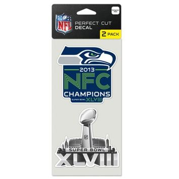 ESBON NFL Seattle Seahawks Wincraft NFC Champions Perfect Cut Decal