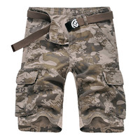 Summer Loose Camouflage Multi-Pocket Cotton Cargo Shorts Casual Shorts For Men