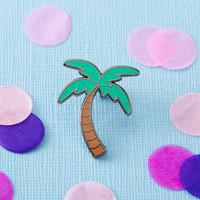 Palm Tree Enamel Pin with clutch back // lapel pins, tropical, hawaiian // EP088