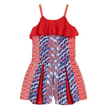Kenzo - Girls Asian Silk Inspired Flounce Shortie Romper