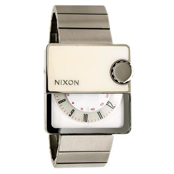 Nixon A074793 Men's The Murf White Rotating Dial Stainless Steel Watch