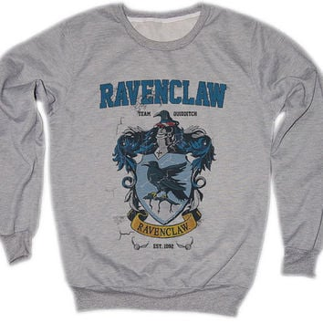 Ravenclaw Harry Potter Hogwarts Quidditch Team Festival Retro VTG Jumper Sweater Sweatshirt Long Sleeve Crewneck Round neckline S M L