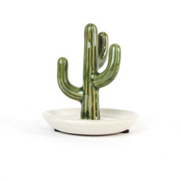 Ceramic Cactus Jewelry Holder