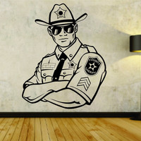 Police Policeman Badge Cop Sheriff Uniform Version 105 Logo Vinyl Wall Decal