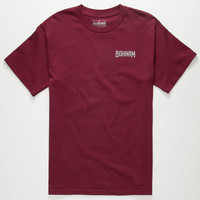 Bohnam Miles Mens T-Shirt Burgun  In Sizes