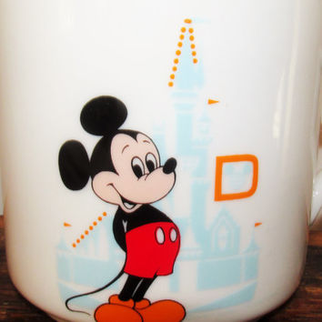 Vintage 1970s Walt Disney World Mickey Coffee Mug