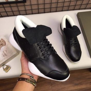 adidas x Rick Owens RO Black White White Vicious Runner Sneakers - Best Deal Online