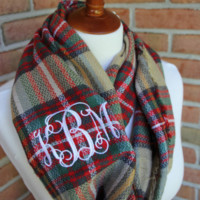 Infinity Monogrammed Scarf