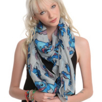 Disney Lilo & Stitch Grey Scarf