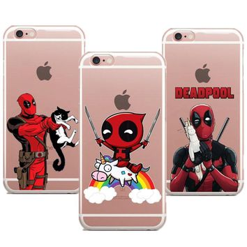 Deadpool Dead pool Taco Phone case Funny Spiderman   soft TPU clear case cover for Apple iPhone X 8 7 7plus 6 6S 6plus 5S SE coque fundas AT_70_6