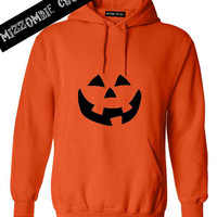 HALLOWEEN  costume PUMPKIN  hoodie unisex vintage inspired pumpkin jack o lantern face easy costume idea