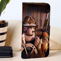 Carl And Russell | Disney | Up | custom wallet case for iphone 4/4s 5 5s 5c 6 6plus case and samsung galaxy s3 s4 s5 s6 case