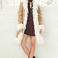 Ecote Suede Love Coat- Tan