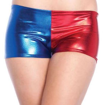 DCCKLP2 Misfit booty shorts in BLUE/RED