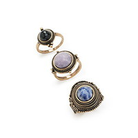 Bauble Faux Stone Ring Set