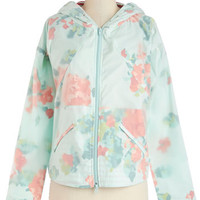 Blutsgeschwister Mid-length Long Sleeve Take the Flora Raincoat