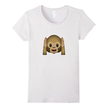 Cute Hear No Evil Monkey Emoji T-Shirt