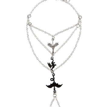 Blackheart Flying Dragons Mixed Metal Hand Harness