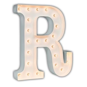 """24"""" Letter R Lighted Marquee Letters (White Gloss)"""