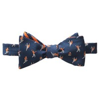 THE HANGTIME REVERSIBLE BOW TIE IN NAVY & ENDZONE ORANGE BY SOUTHERN TIDE