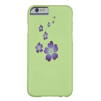 Purple Flowers Barely There iPhone 6 Case