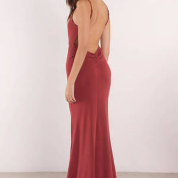 Keep It On The Low Back Maxi Dress