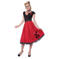 California Costumes Womens Rock N Roll Sweetheart Halloween Poodle Skirt Costume