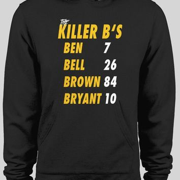 PITTSBURGH'S THE KILLER B'S * BEN, BELL, BROWN, BRYANT * BLACK WINTER HOODIE