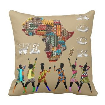 We Rock! Throw Pillow