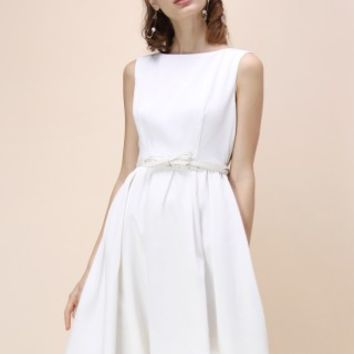 Modern Glamour Prom Dress in White - Retro, Indie and Unique Fashion
